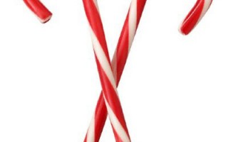 candy canes made on candy cane line